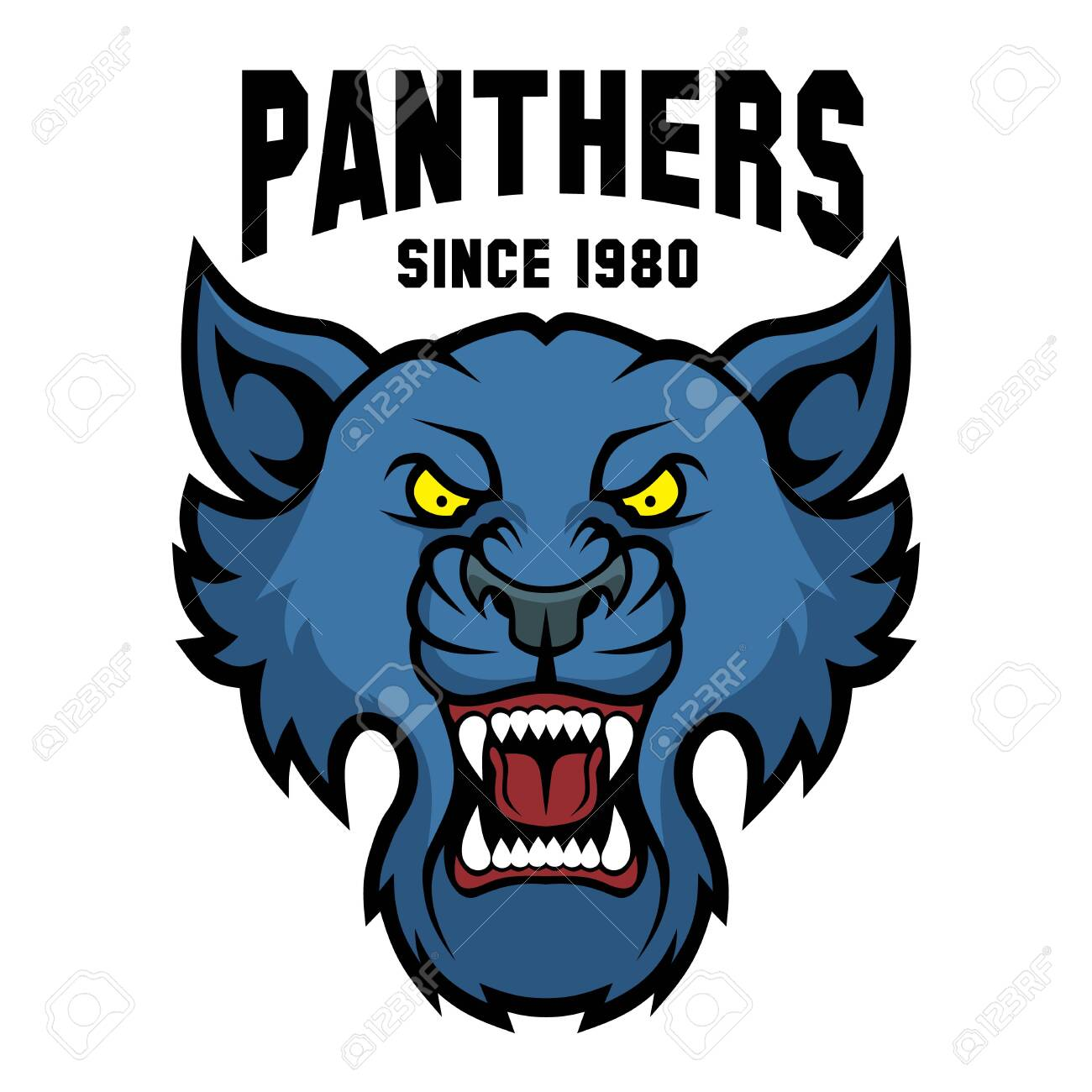 Mascot Panthers - sport team template. - 137241180