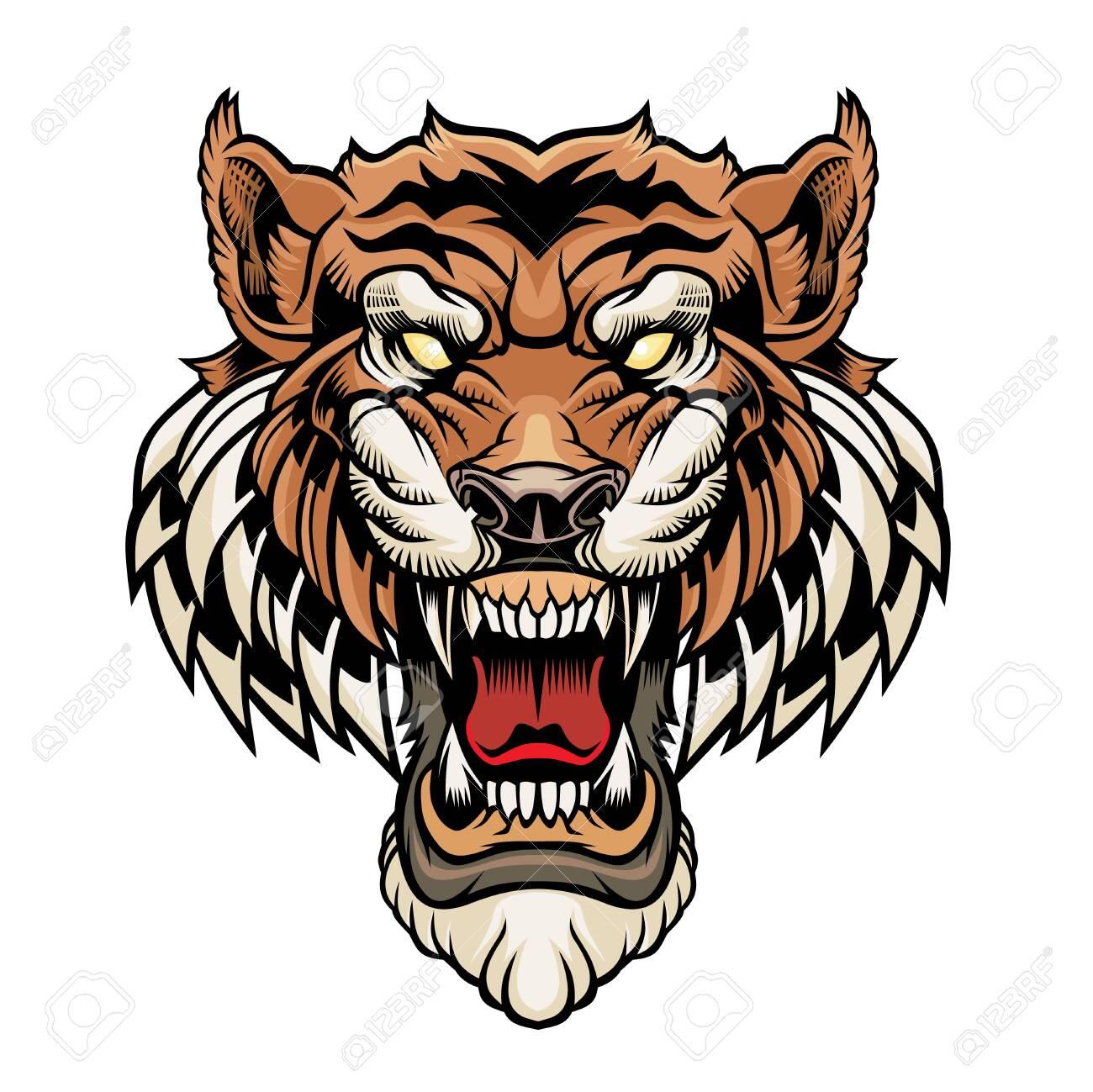 Tiger head. - 137241194