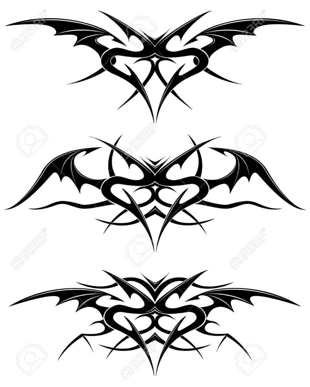 Black tattoo isolated on white Stock Vector - 2856380