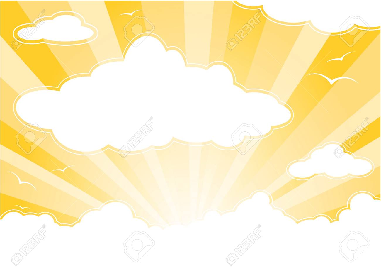 Sunny sky with clouds and sunbeams Stock Vector - 4701685
