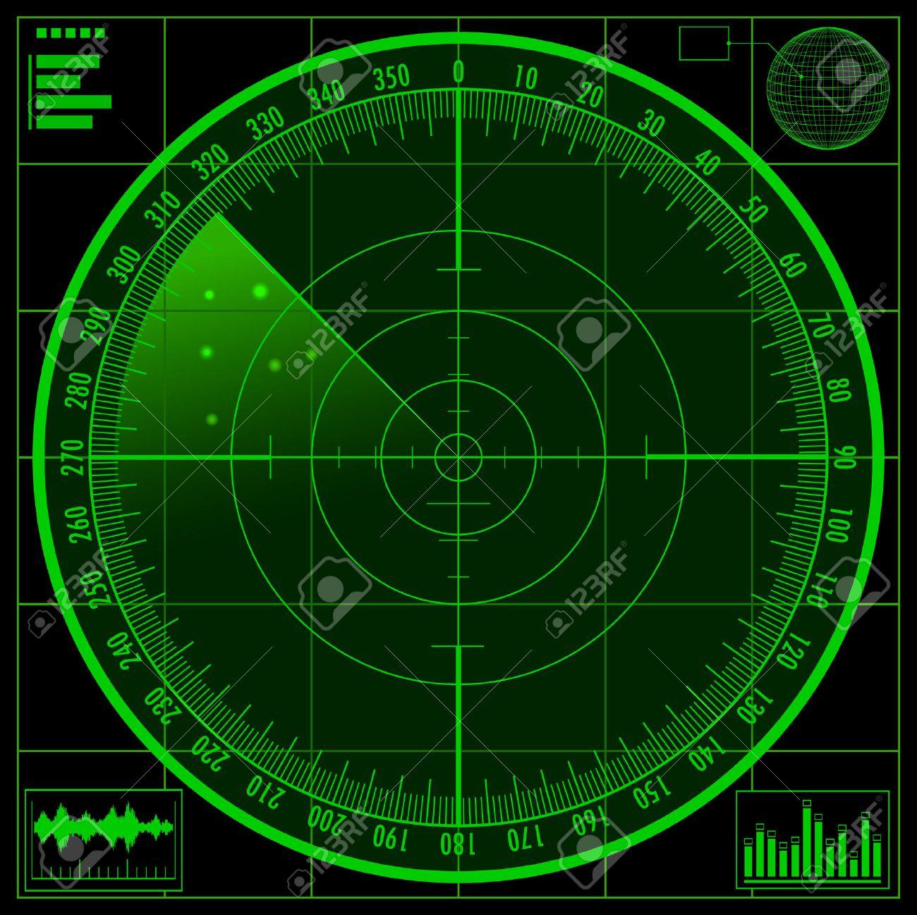 Radar Screen Stock Vector