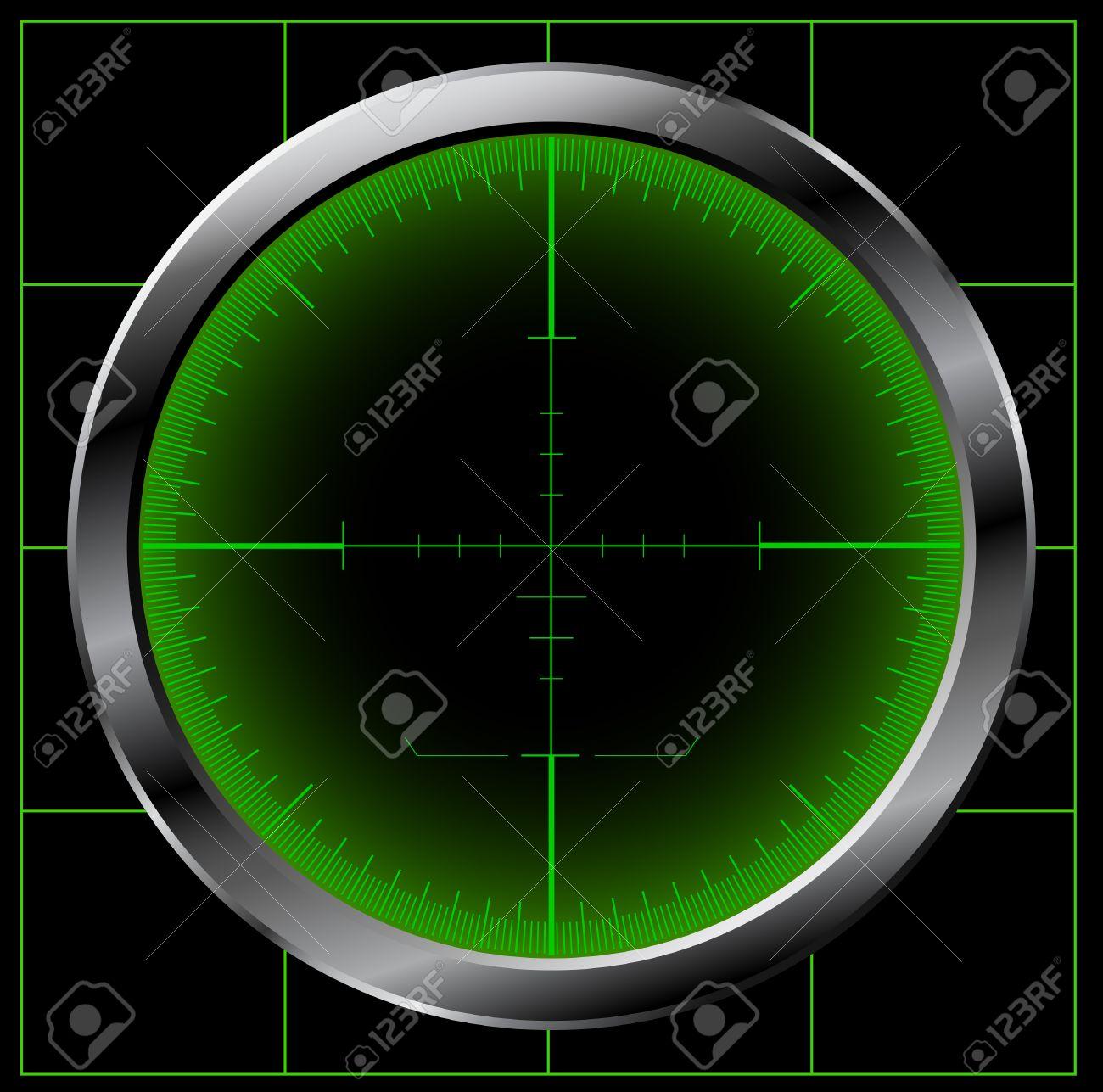 Radar screen Stock Vector - 8738501