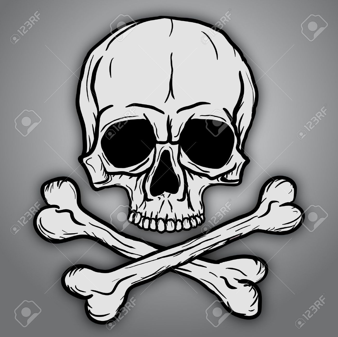 skull and crossbones over gray background royalty free cliparts