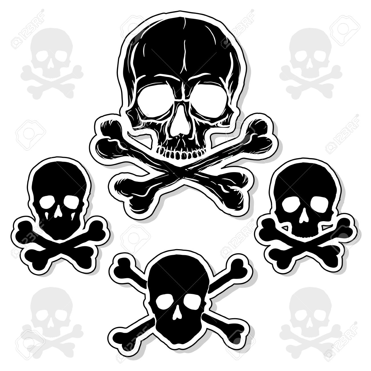 8,341 Skull Crossbones Stock Vector Illustration And Royalty Free ...