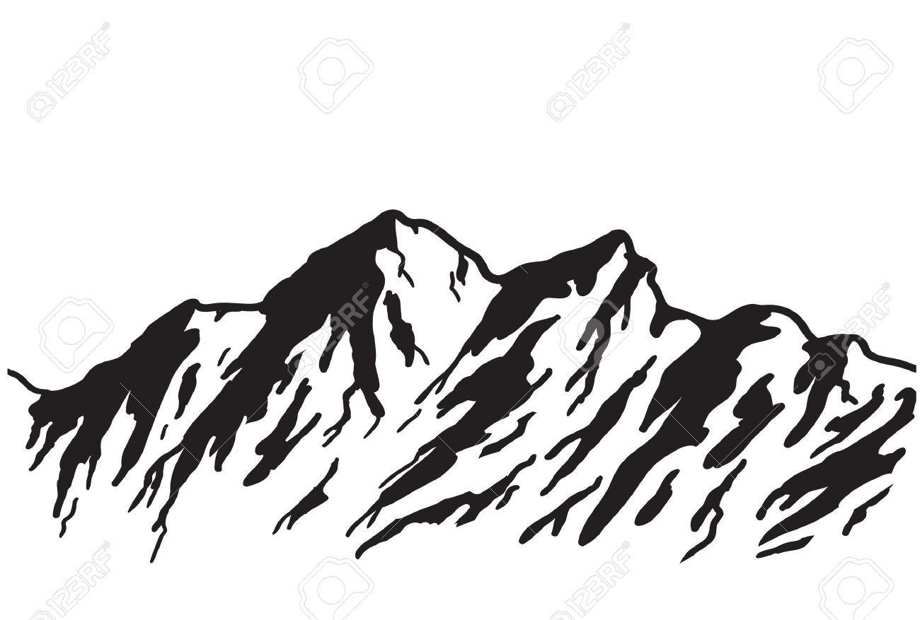 Mountain range isolated on white illustration royalty free mountain range isolated on white illustration stock vector 15173452 sciox Gallery