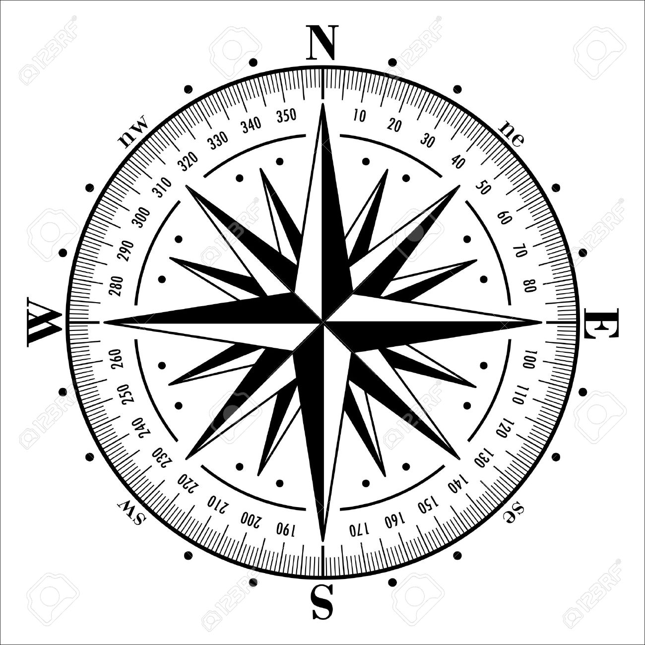 compass rose isolated on white vector illustration royalty free rh 123rf com compass rose vector art compass rose vector art free