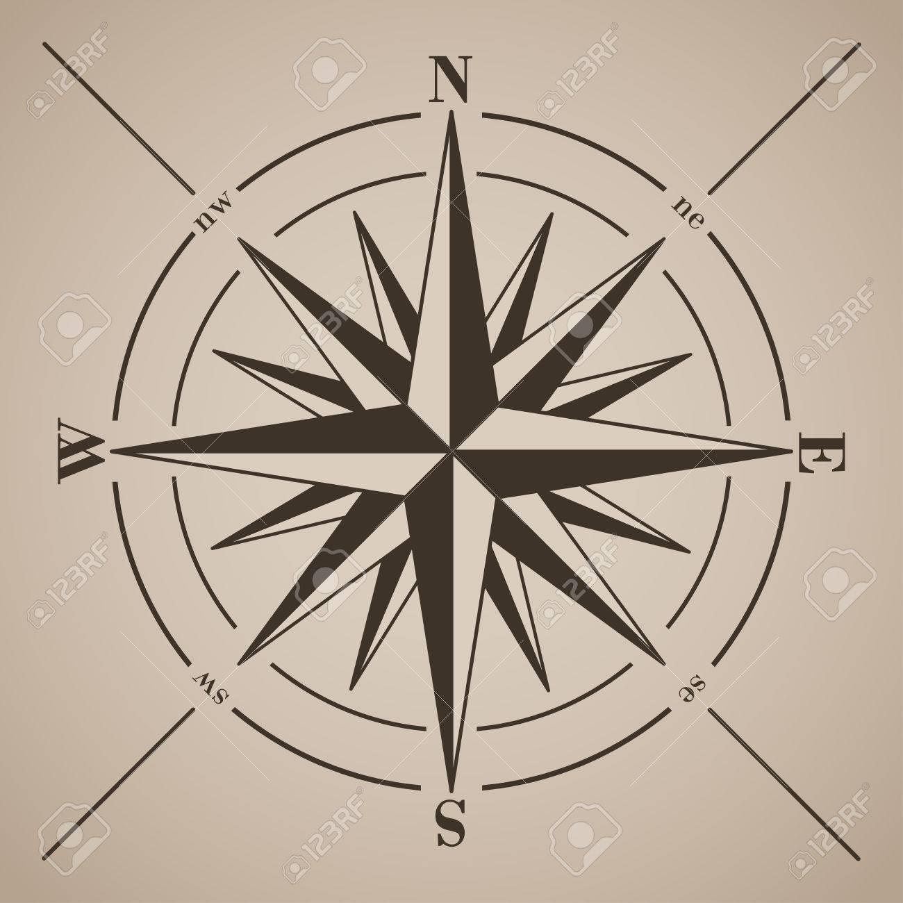 Compass rose. Vector illustration. - 31526943
