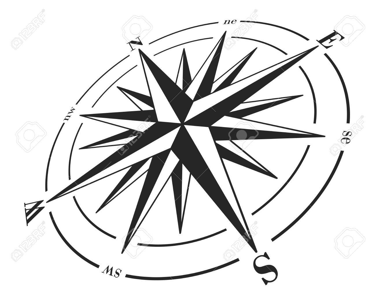compass rose isolated on white royalty free cliparts vectors and
