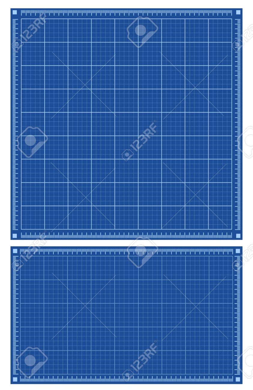 Blueprint Hintergründe. Set Von Quadratischen Und Horizontalen ...