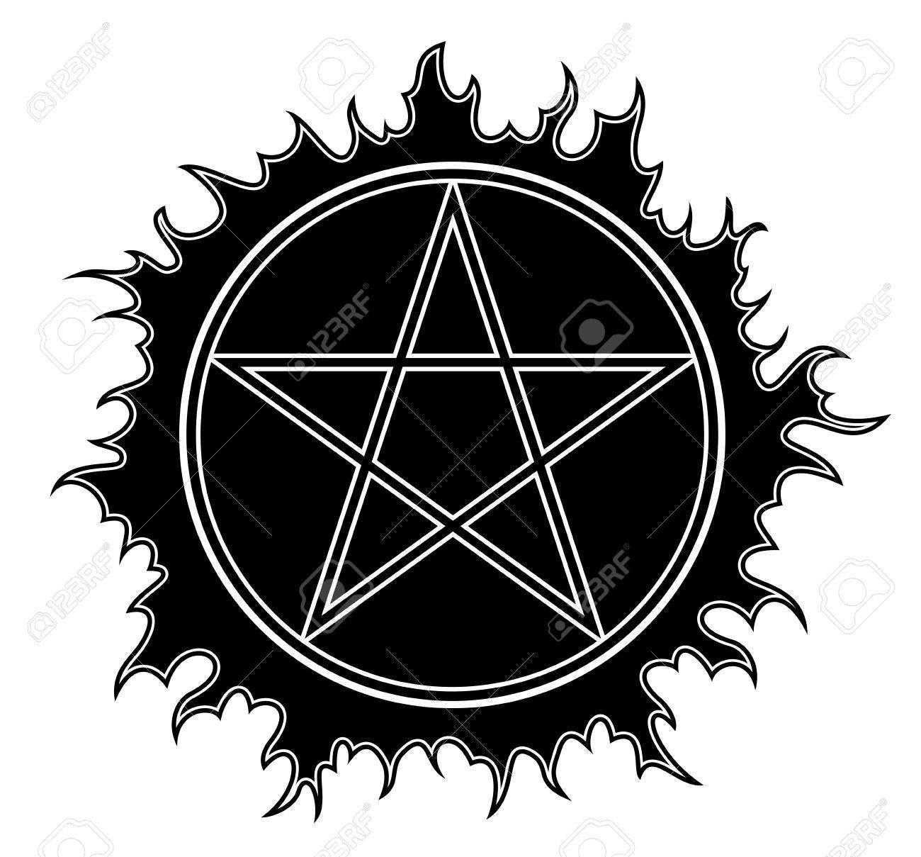 Pentagram icon star symbol isolated illustration black on white pentagram icon star symbol isolated illustration black on white background stock vector biocorpaavc Choice Image