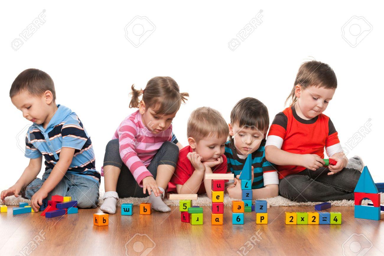 Worksheet Kindergarten Kids kids kindergarten scalien five are playing on the floor with blocks in kindergarten