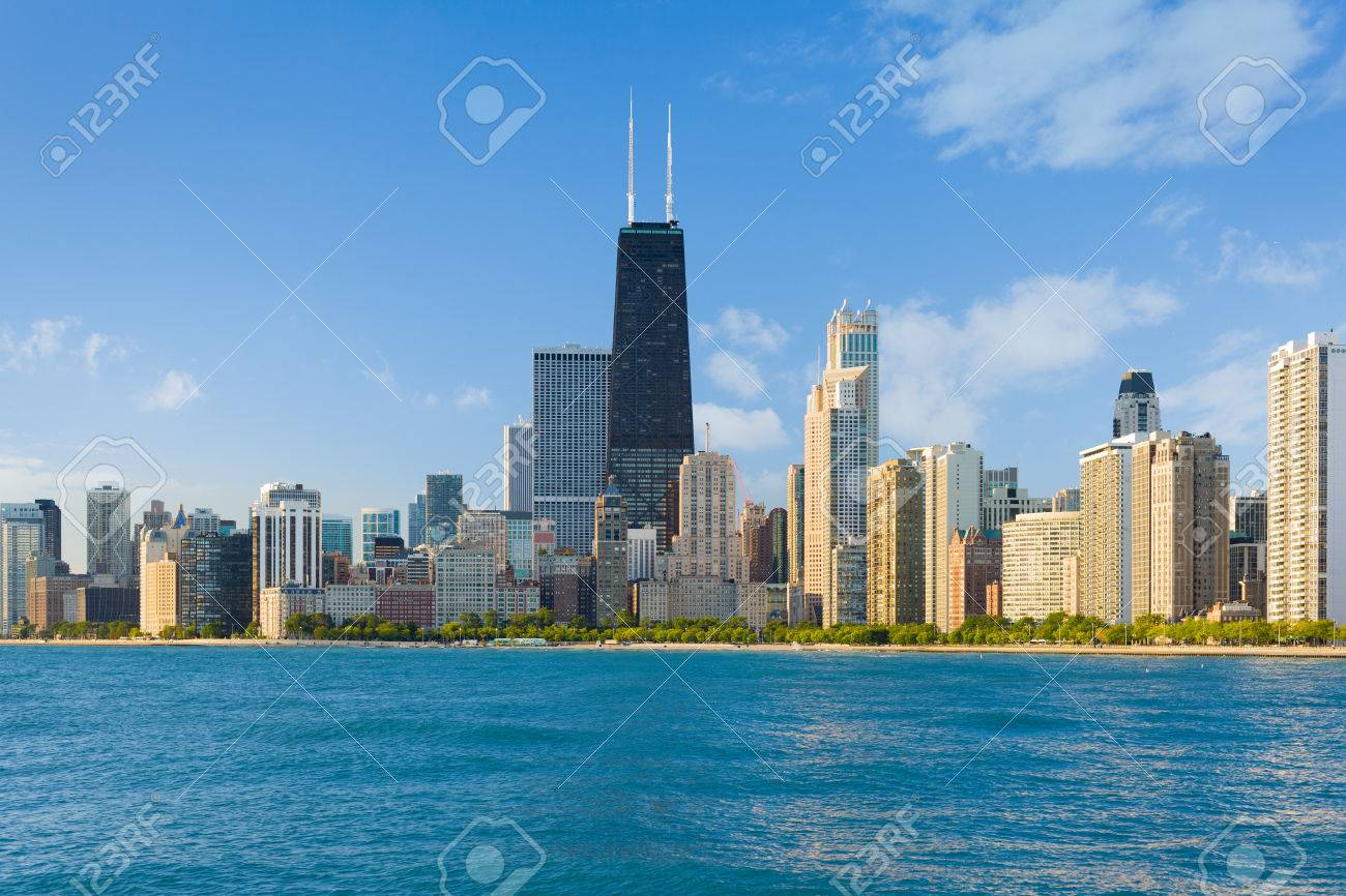 Cityscape of Chicago in a summer day - 23259550