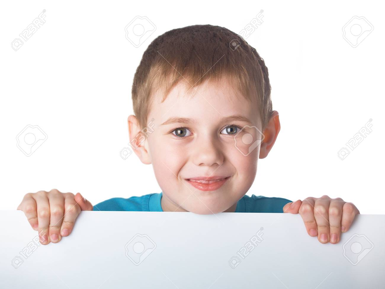 Portrait of the beautiful boy on the white background Stock Photo - 5035298