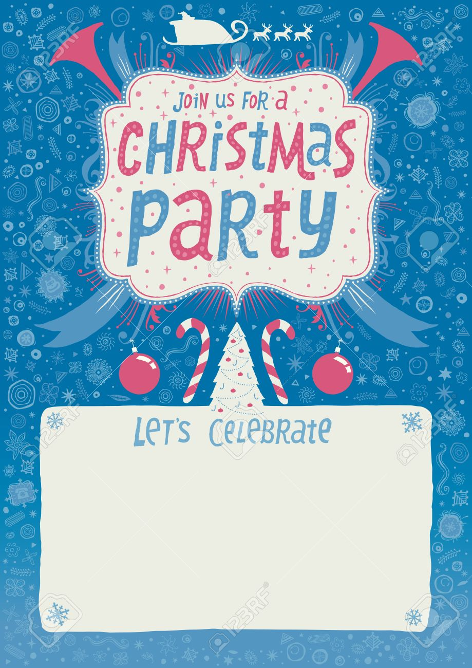 christmas party invitation greeting card poster or background christmas party invitation greeting card poster or background hand lettering typography author