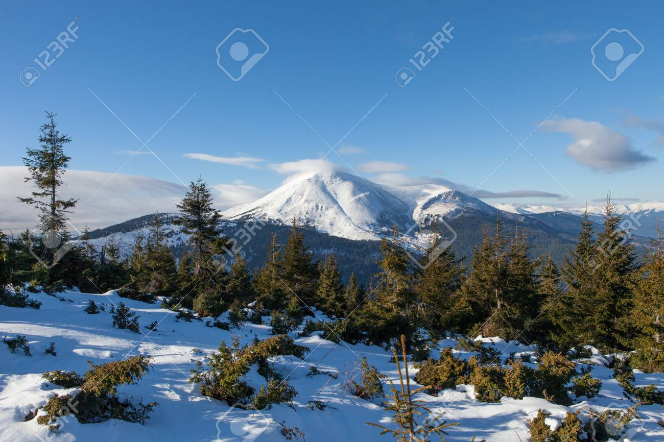 Petros. The second highest mountain of Ukraine. 2020 m Stock Photo - 17334240