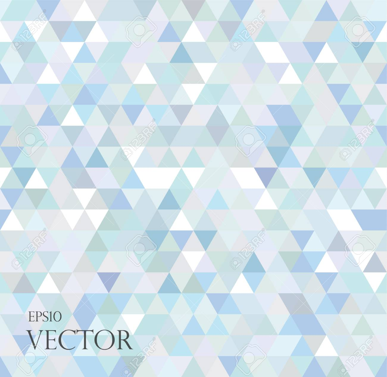 Abstract Geometric Background Consisting Of Light Blue Triangles