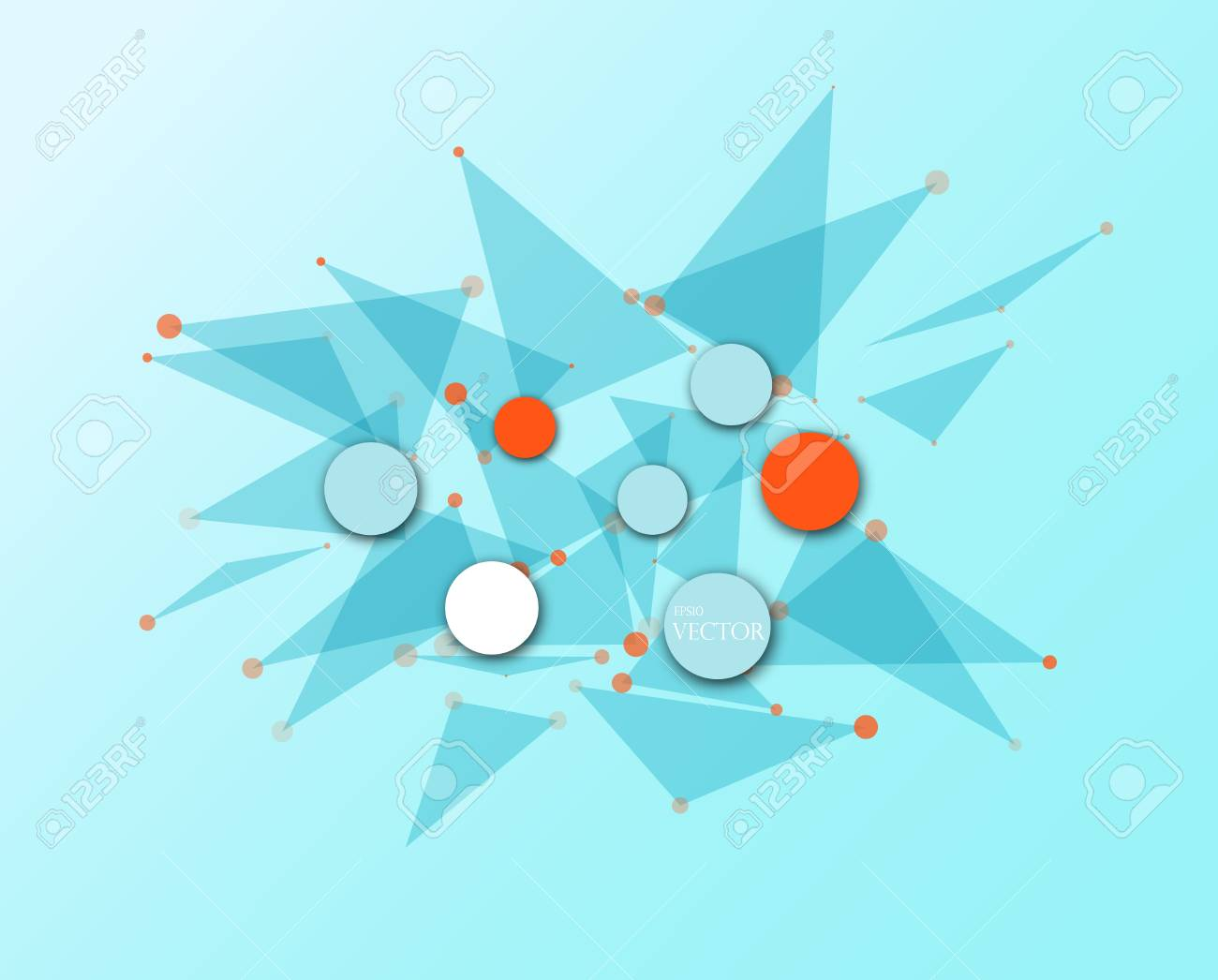Integration Und Innovation Technologie. Beste Ideen Für  Business Präsentation Modell Blaue Farbe Standard