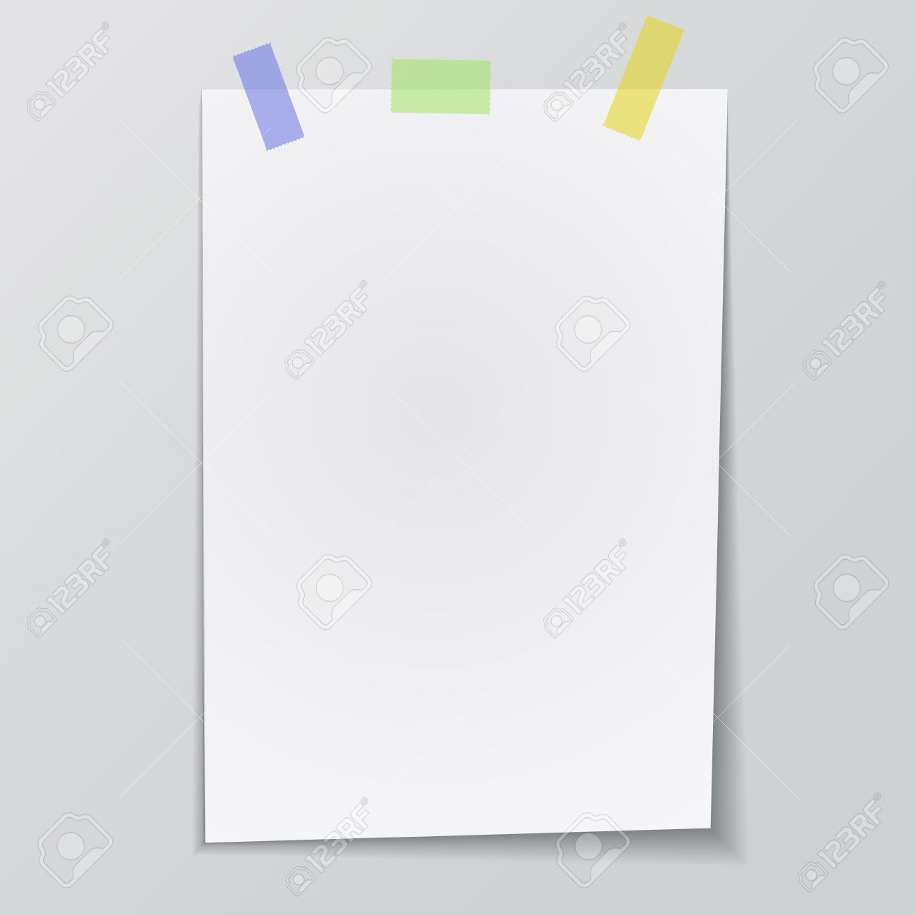 vector paper sticky tape blank piece of paper for you text royalty