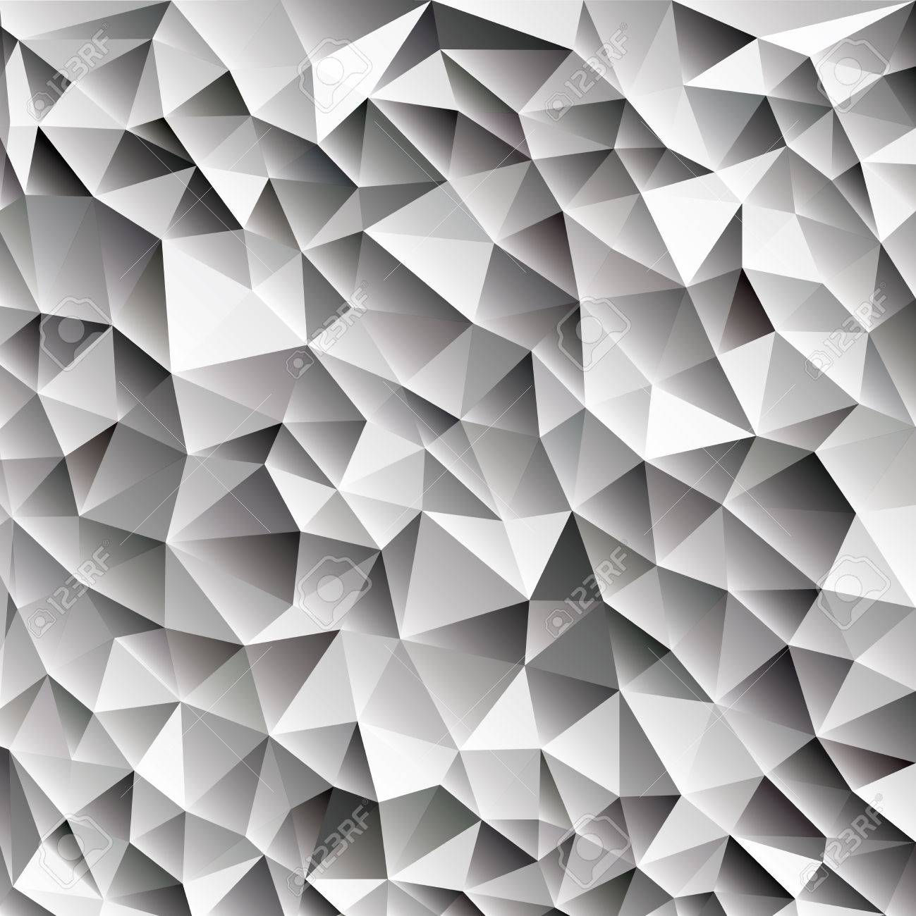 3d Abstrait Brillant Cubes De Glace Vecteur Géométrique Fond Web,  Différentes Nuances De Gris Avec