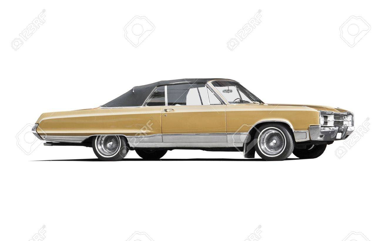 Classic American Car On White Background Stock Photo Picture And