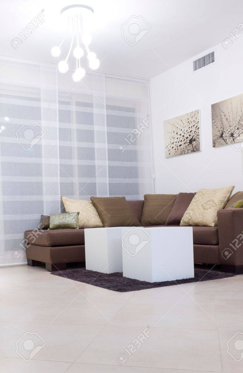 Living room with furnishings in a new house Stock Photo - 11873476