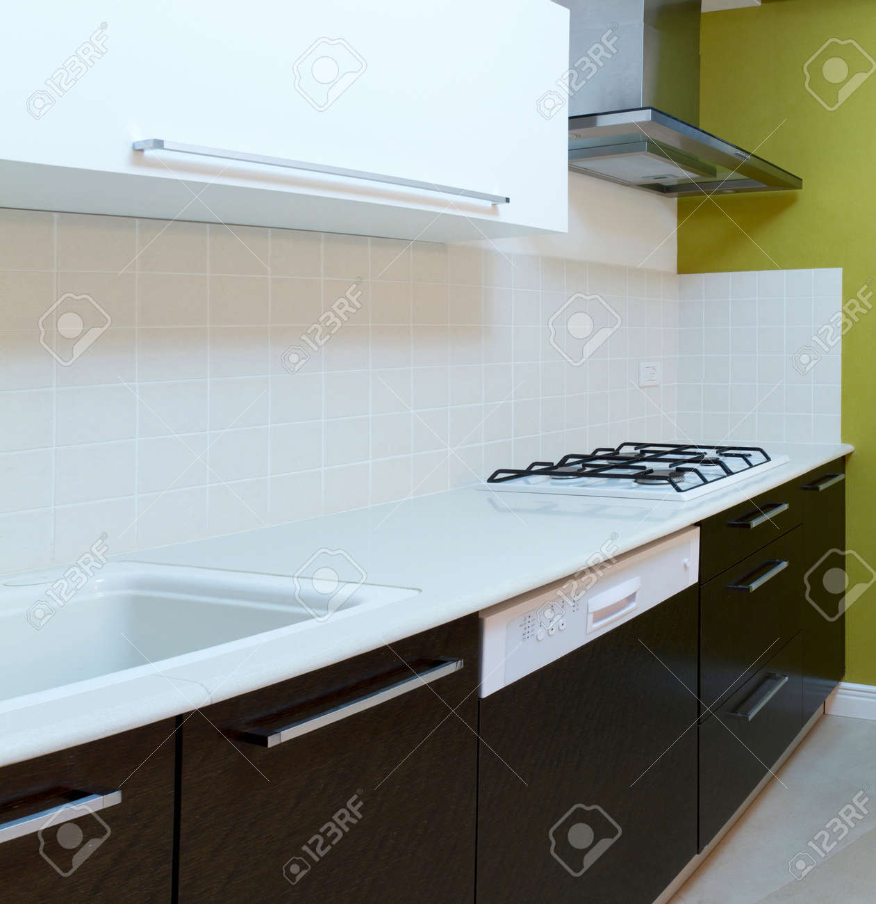 Kitchen modern design with integrated appliances Stock Photo - 11986092