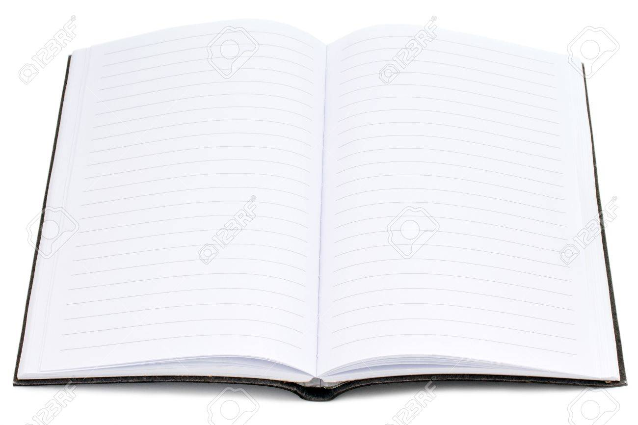 Open Writing Blank Notebook With Lined Paper Photo Picture – Lined Blank Paper