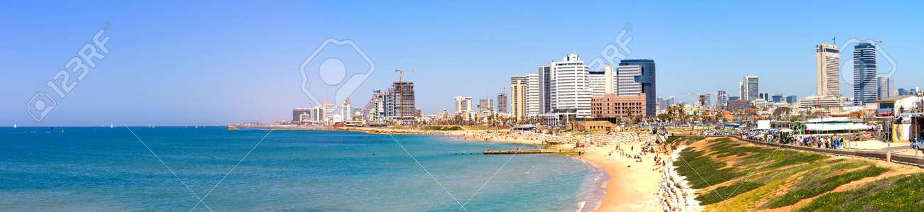 Tel-Aviv beach panorama Jaffa  Israel Stock Photo - 12929253