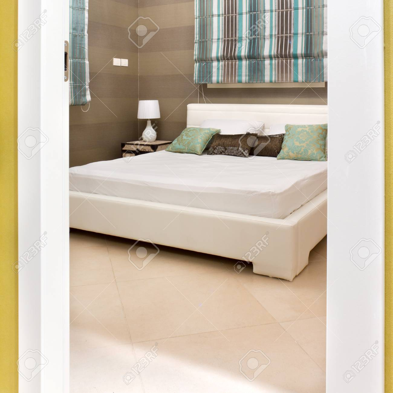 Bedroom with furnishings in a new house Stock Photo - 13957885