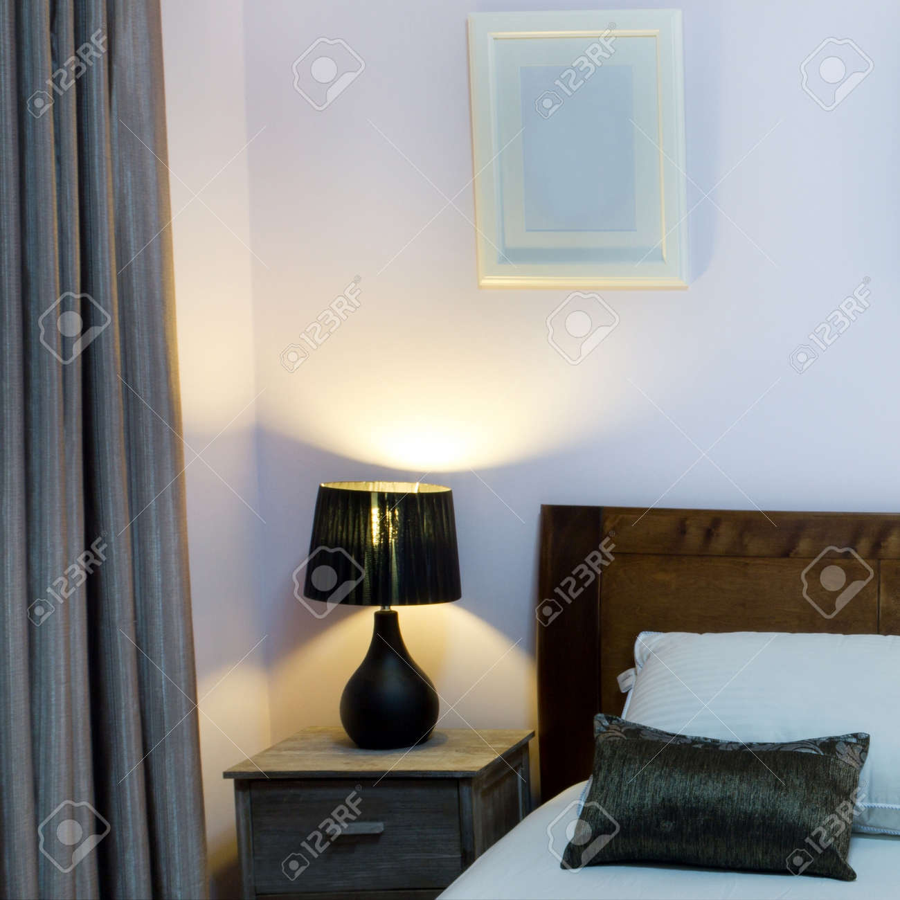 Bedroom with furnishings in a new house. Stock Photo - 13985541