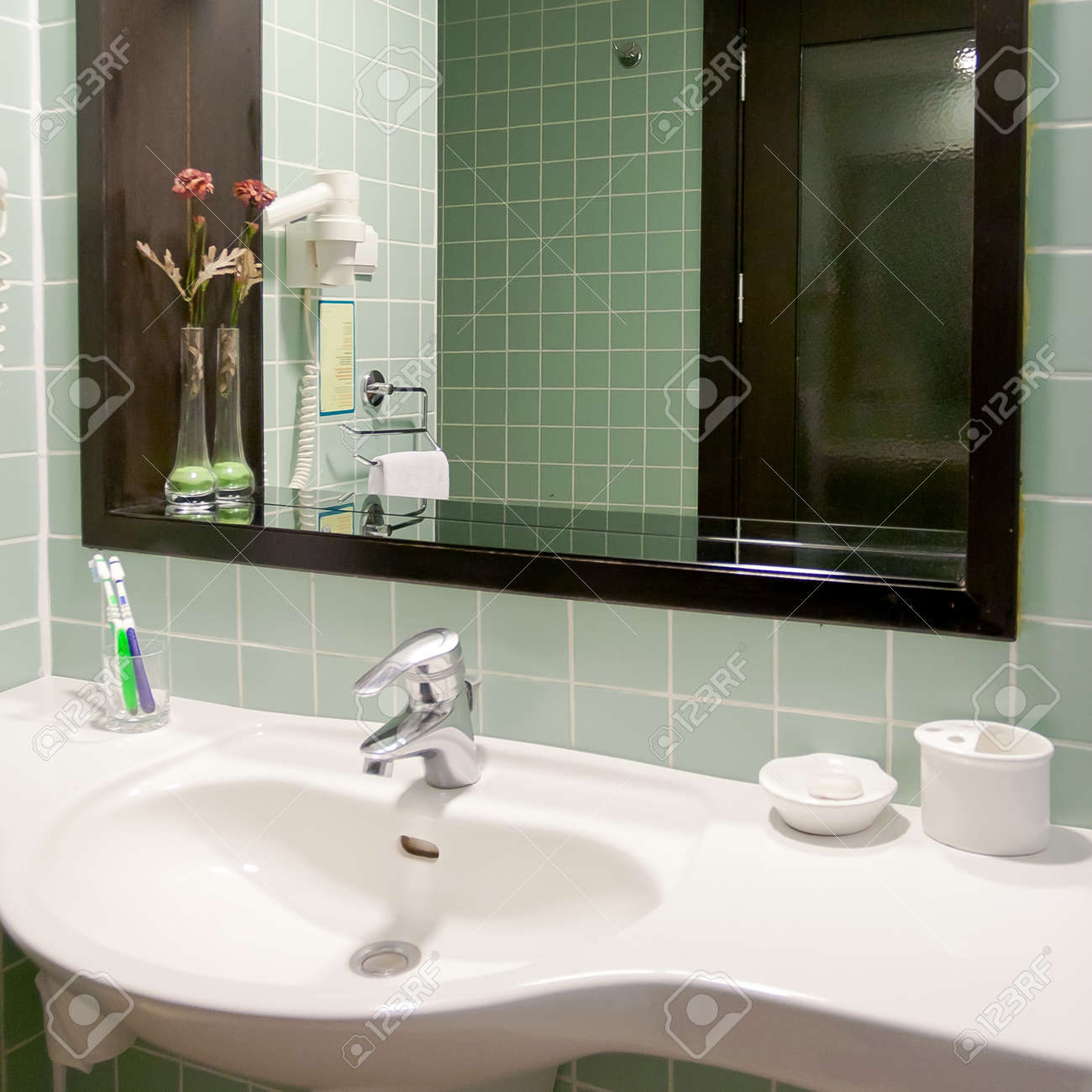 Modern Style Interior Design Of Bathroom Stock Photo, Picture ... - ^