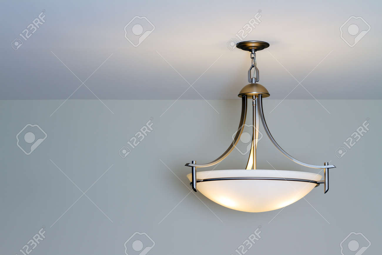Modern ceiling lamp in a new home Stock Photo - 15846995