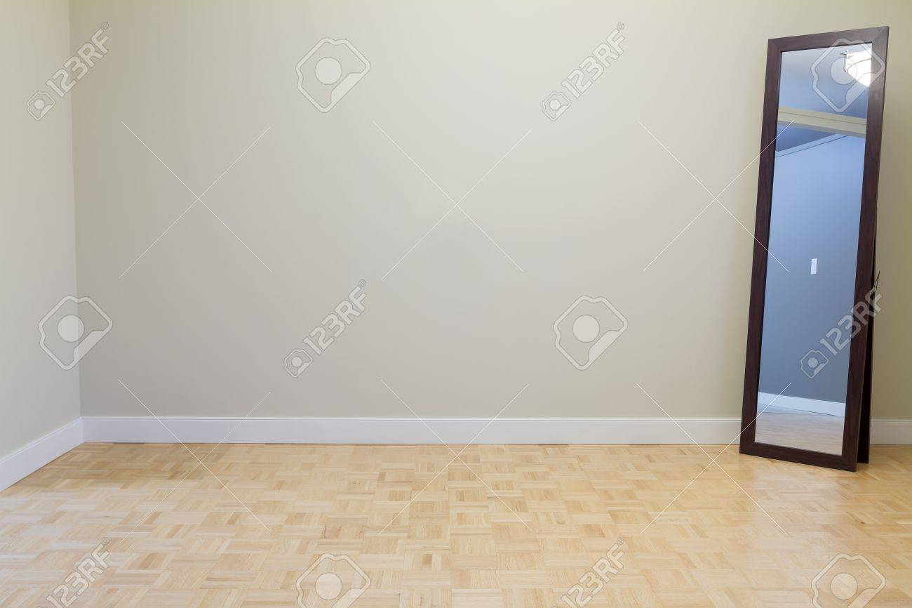 Empty Living Room with mirror in a new apartment Stock Photo - 15892625