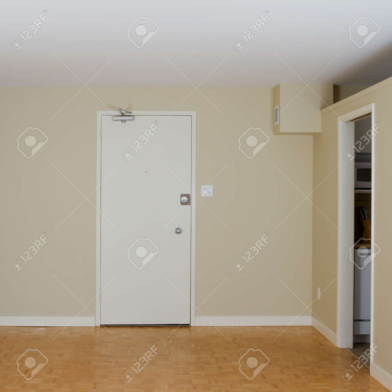 Empty Living Room in a new apartment Stock Photo - 16403652