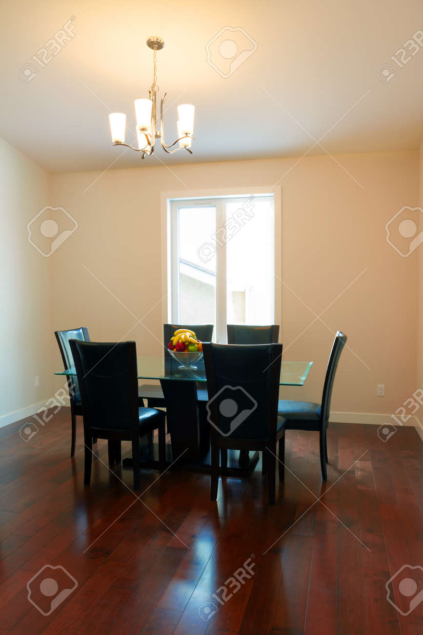 Interior design of dining room in a new house Stock Photo - 17533141