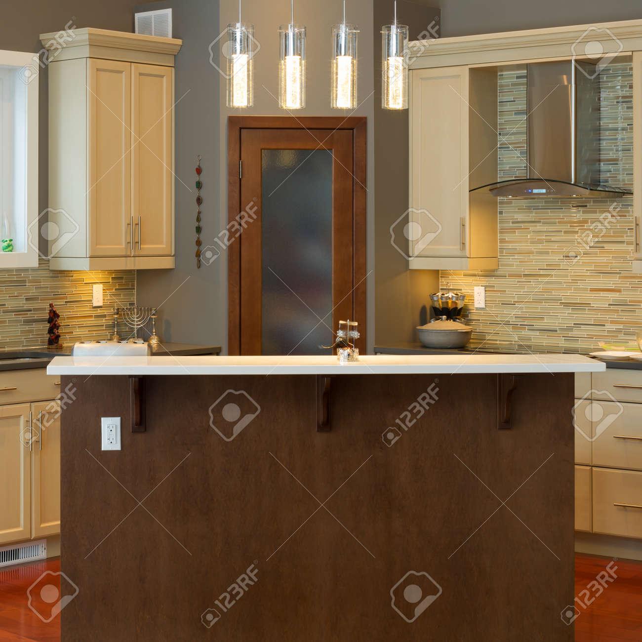 Modern kitchen Interior design  in a new house Stock Photo - 17644789