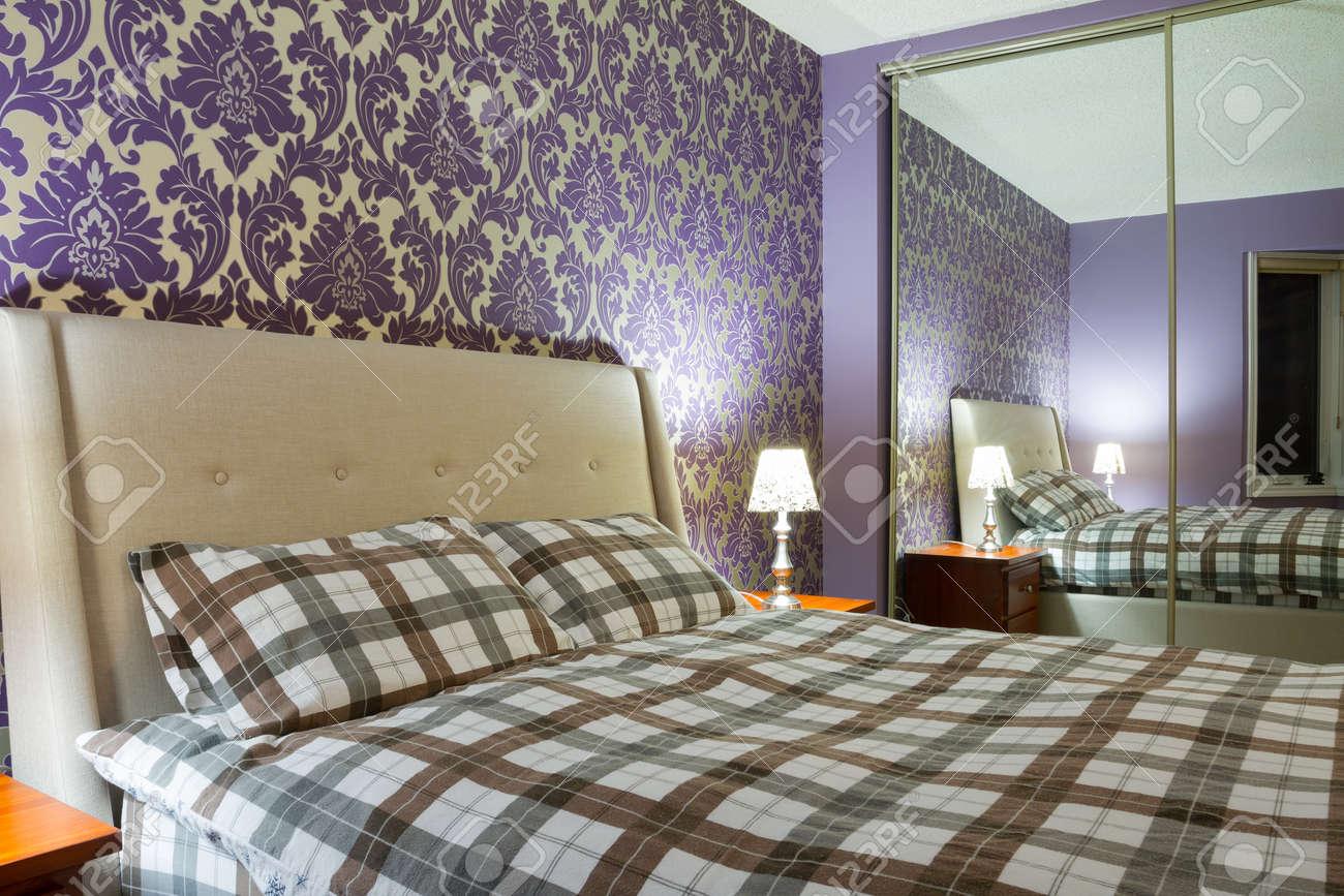 Romantique Design D'intérieur Chambre à Coucher Banque D'Images Et ...
