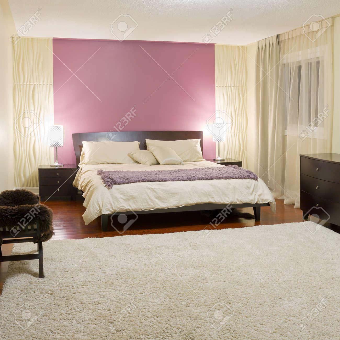 Schlafzimmer moderne innenarchitektur mit möbeln lizenzfreie bilder 22505171