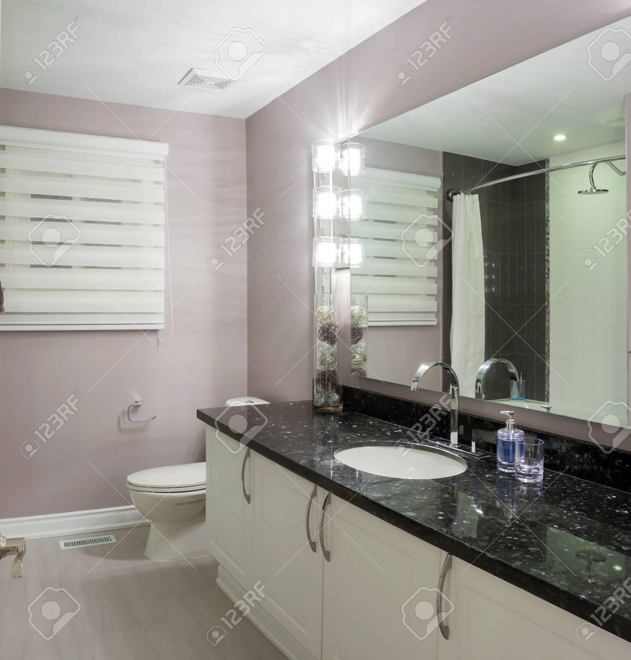 Diseño interior de un cuarto de baño en la casa nueva