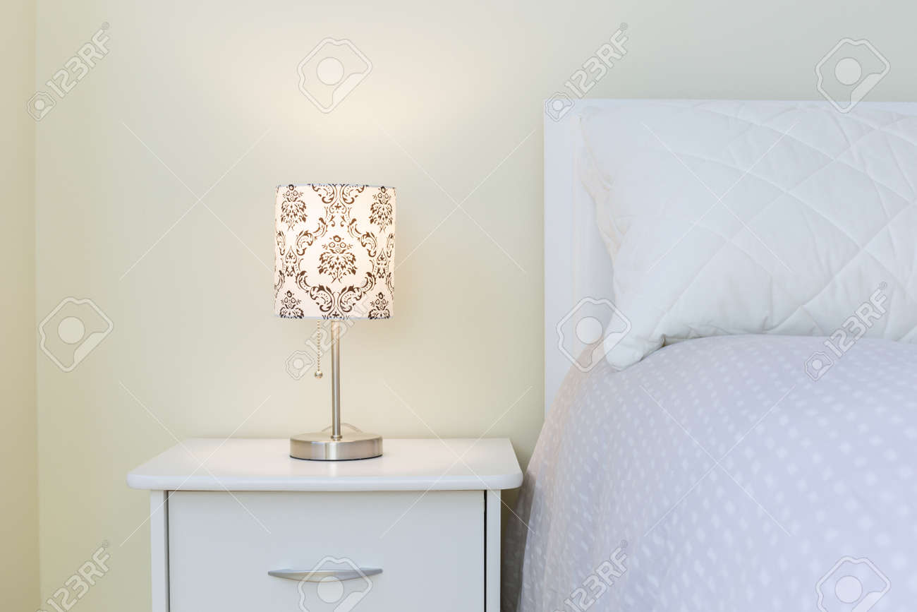 Bedroom  interior design in white colors Stock Photo - 27543533