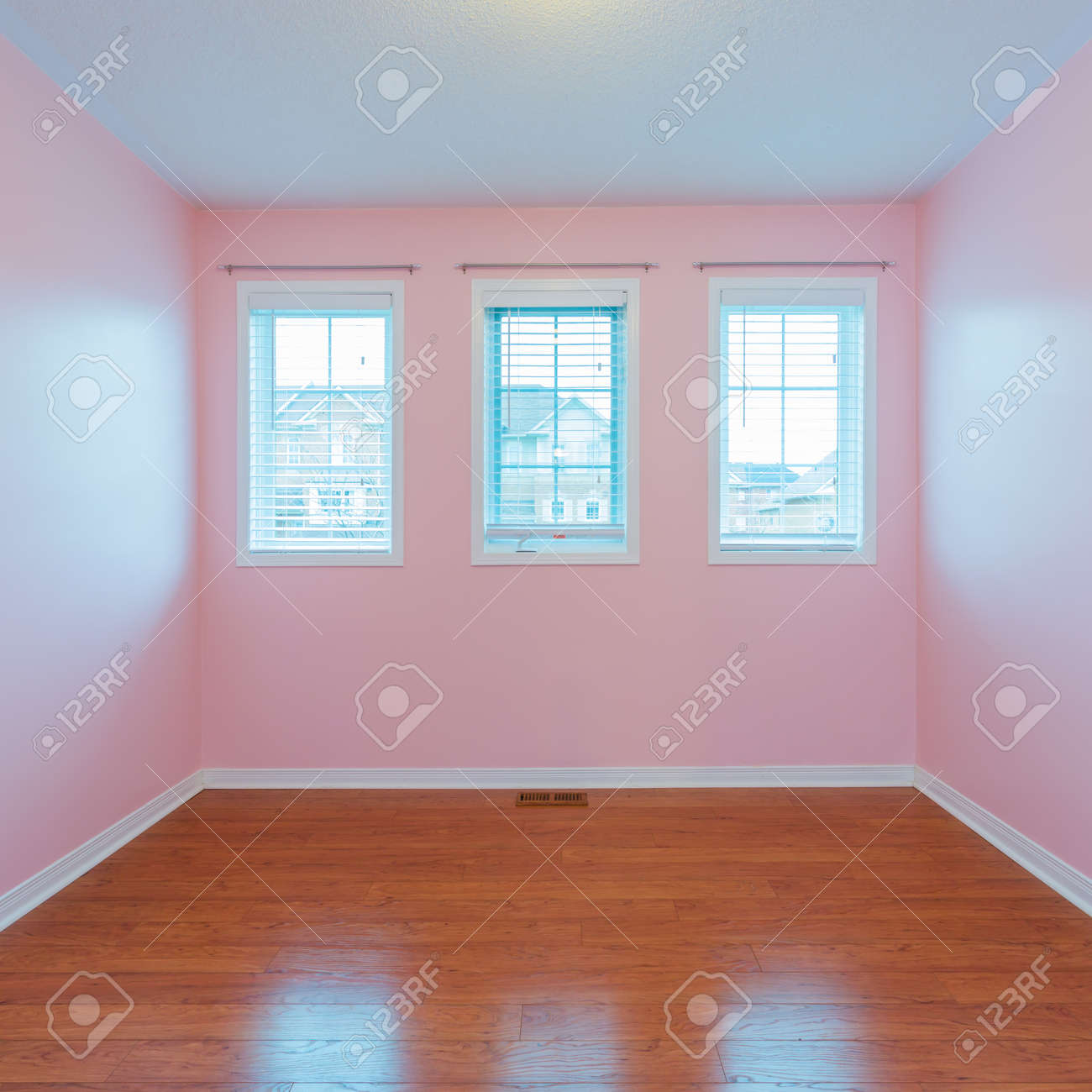 Empty Bedroom After Renovation In A New House Stock Photo Picture