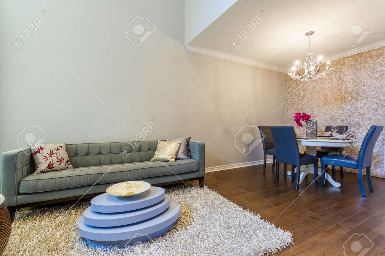 Diseo De Interiores Moderna Sala De Estar Con Juego De Comedor
