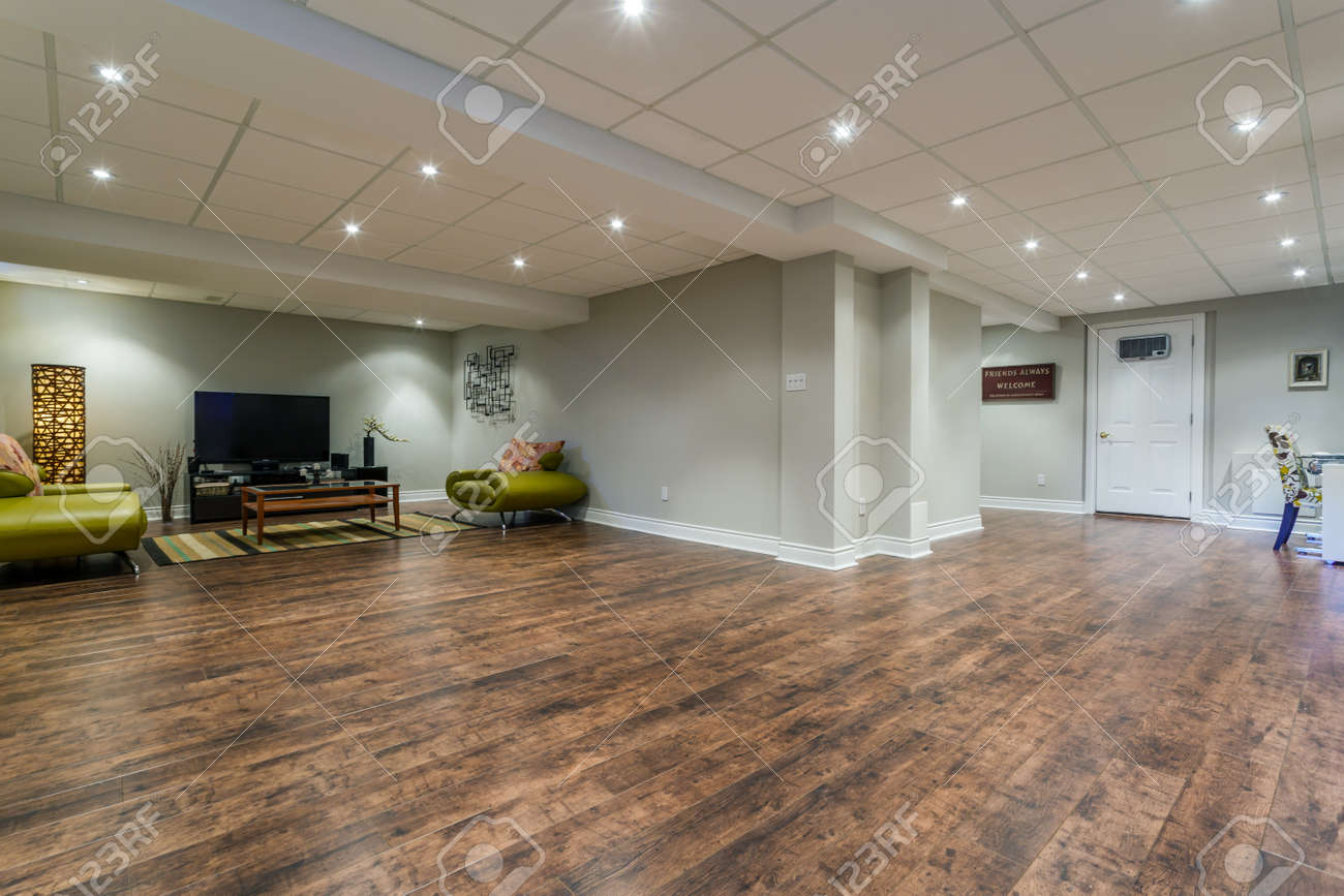 Delicieux Basement Interior Design In A New House Stock Photo   66515467