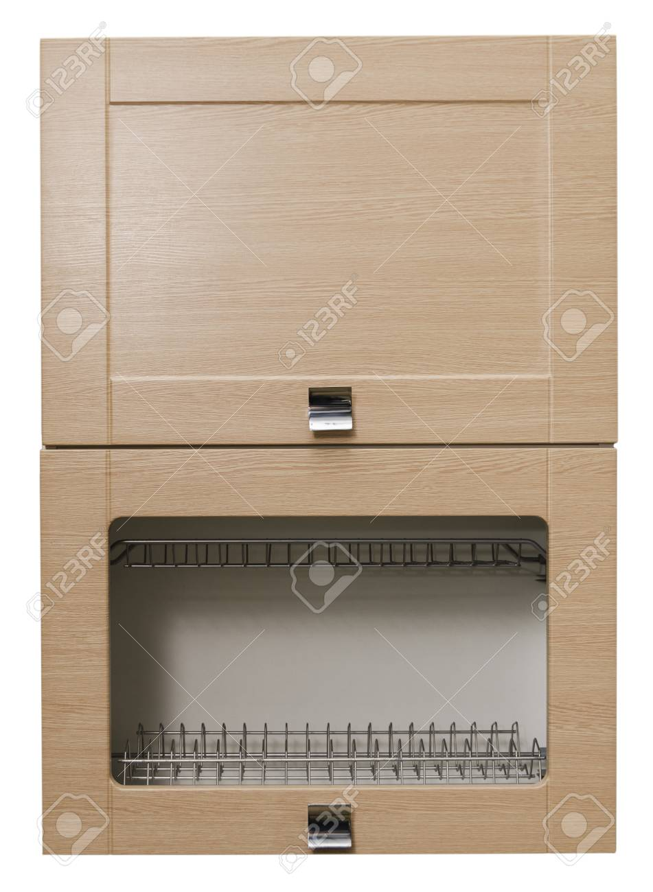 Módulo De Mueble Armario De La Cocina En Un Fondo Blanco Aislado