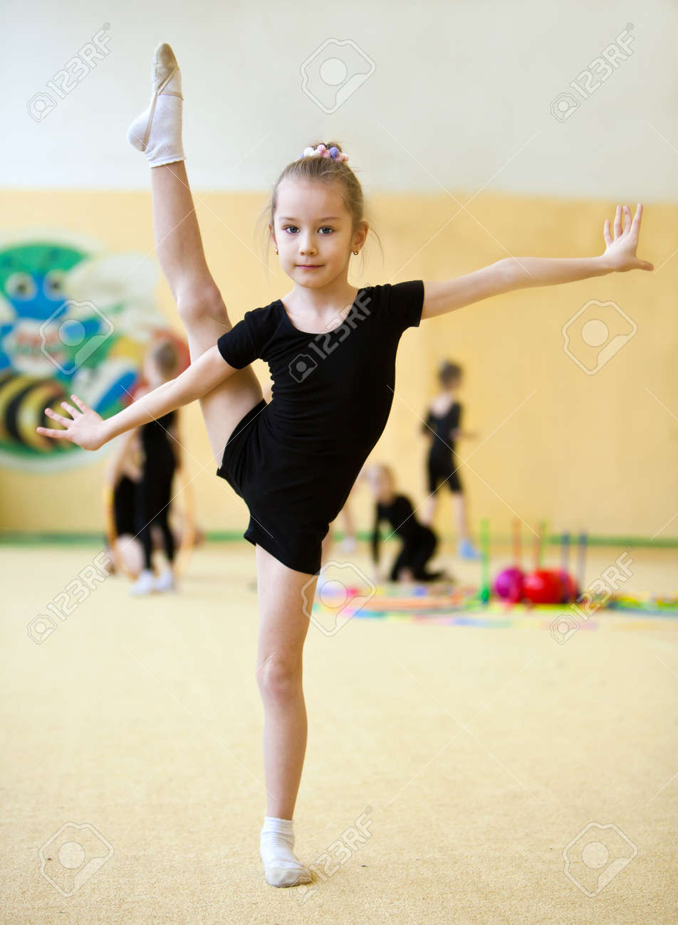 The Young Gymnast Stock Photo, Picture And Royalty Free Image ...young gymnast
