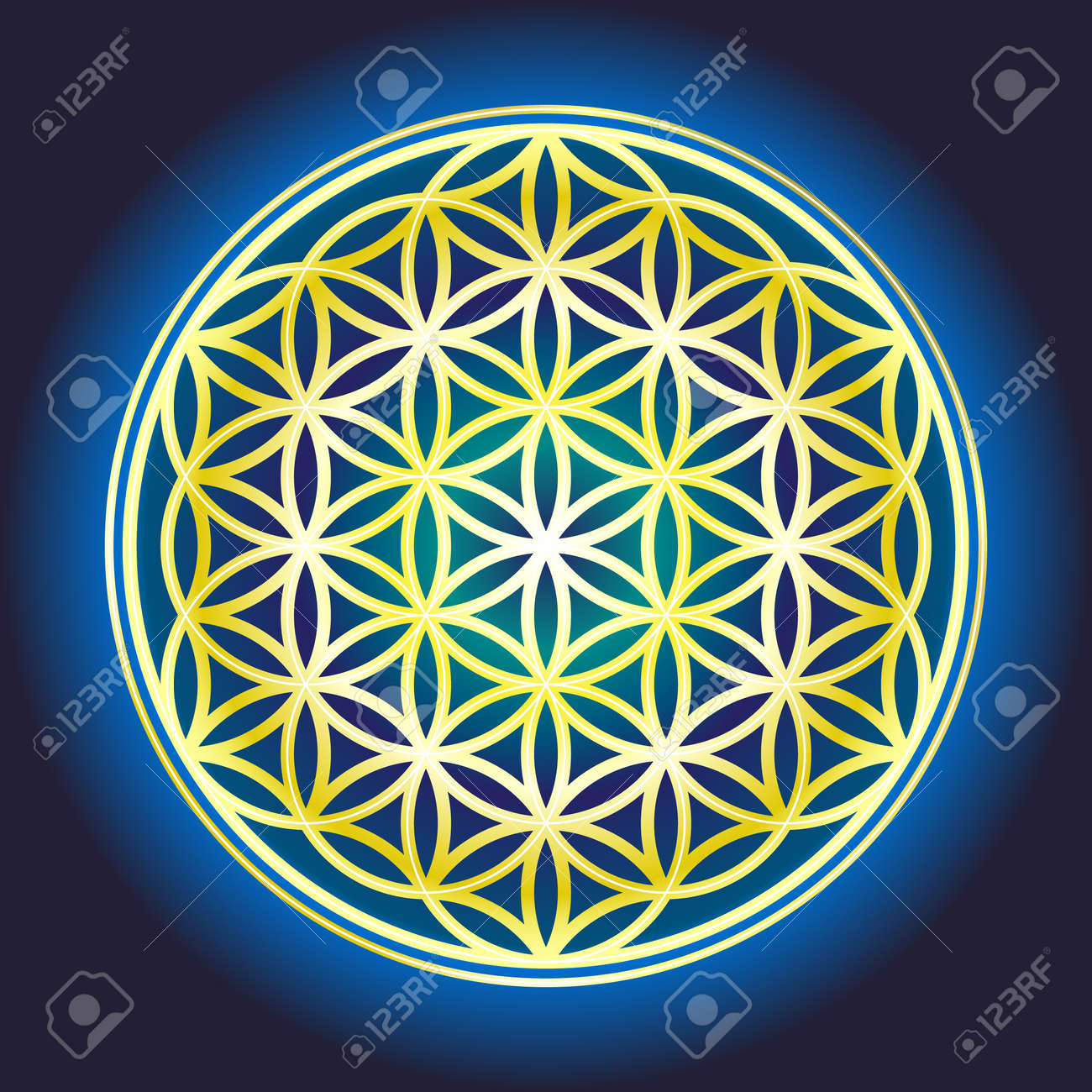 The flower Of Life Banque d'images - 36416772