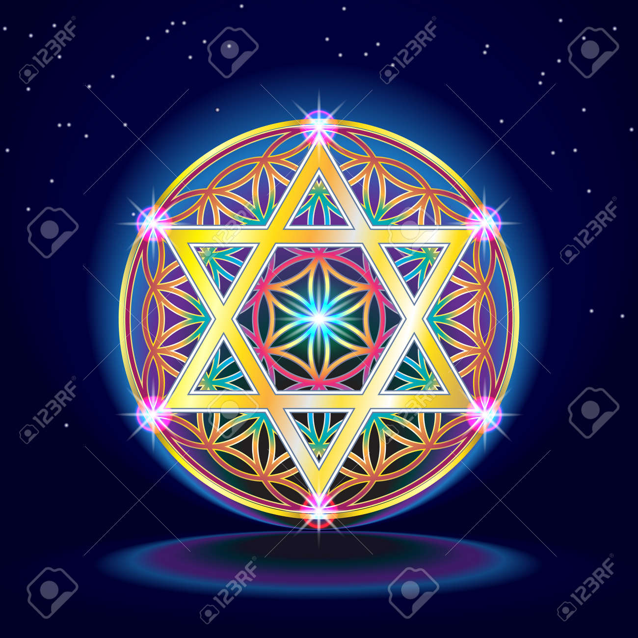 The flower Of Life Banque d'images - 36416787