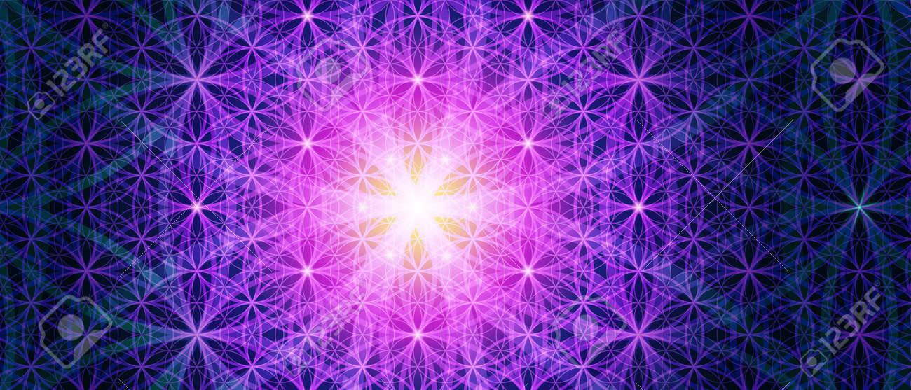 Symboles de la géométrie sacrée, représentent des aspects fondamentaux de l'espace et du temps. Contexte Fleur de symbole de vie variations. Banque d'images - 38541244