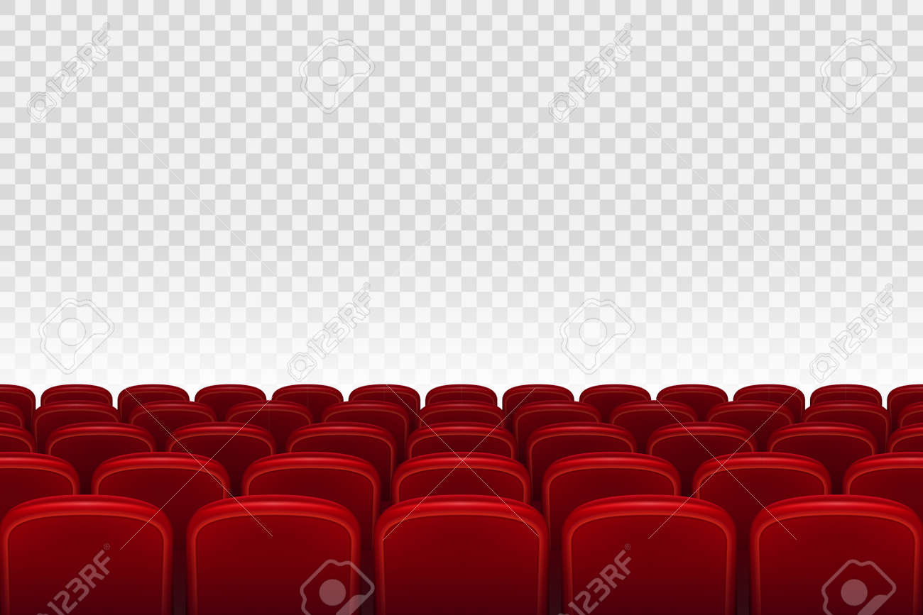 Empty Movie Theater Auditorium With Red Seats Rows Of Red Cinema Royalty Free Cliparts Vectors And Stock Illustration Image 87816127