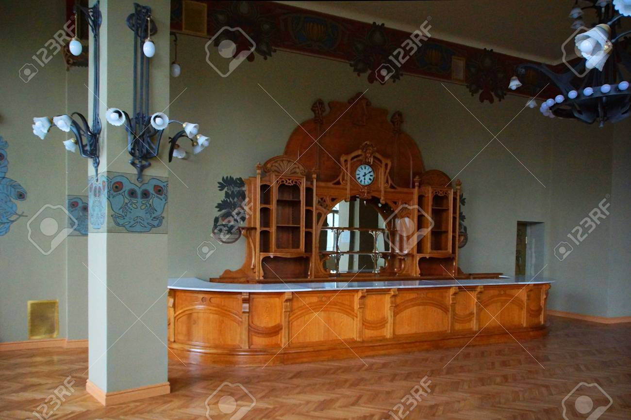 Furniture And Buffet In The Art Nouveau Style At The Vitebsk Stock